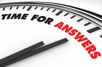 TIME FOR ANSWERS CLOCK © Iqoncept | Dreamstime.com